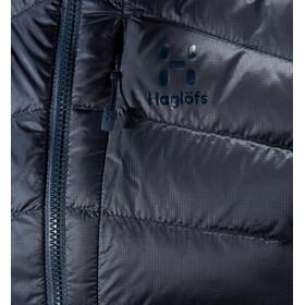 Haglöfs Essens Veste à capuche en duvet Femme, dense blue/tarn blue
